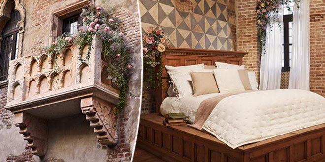 Предложение за брак на свети Валентин в къщата на Жулиета във Верона, Италия